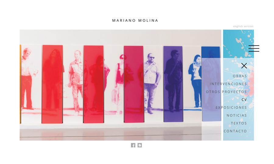 Diseño de página web Mariano Molina