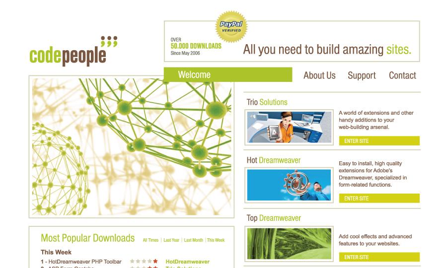 Diseño de página web Code People
