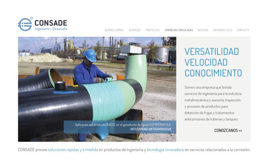 Diseño de página web Consade