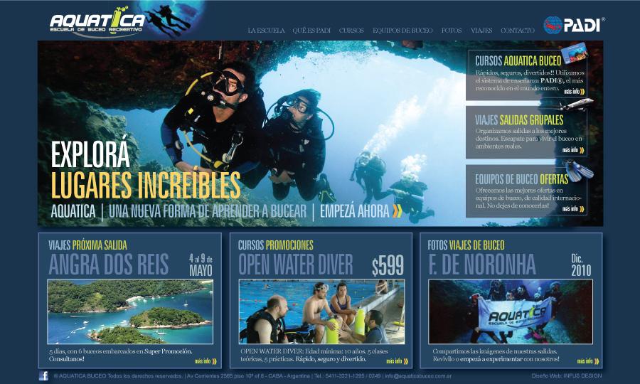 Diseño de página web Aquatica