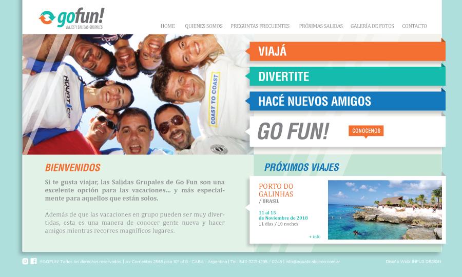 Diseño de página web GoFun